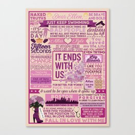 It Ends With Us Book Collage Canvas Print