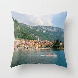 Bellagio in Lake Como Italy Throw Pillow