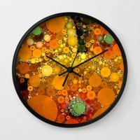Sunset Poppies Wall Clock