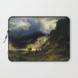 Albert Bierstadt - A Storm in the Rocky Mountains, Mt. Rosalie Laptop Sleeve