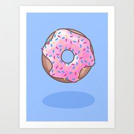 Pink Strawberry Donut Art Print
