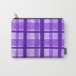 Tissue Paper Plaid - Purple Carry-All Pouch