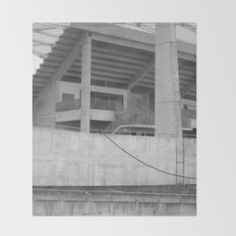 katowice stadion, texture photography, architecture Throw Blanket