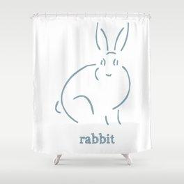 Rabbit Shower Curtain