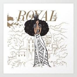 July Royal Art Print