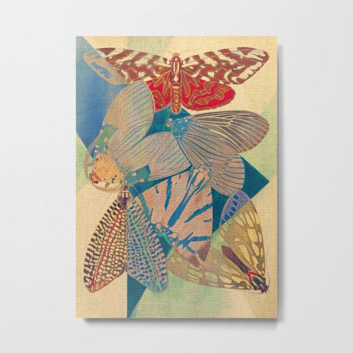 Triangle of Butterflies Metal Print