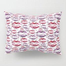 Valentine Kisses and Misses Pillow Sham