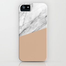 Marble and Hazelnut Color iPhone Case