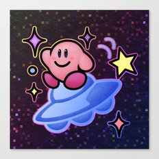 Kirby UFO (no text) Canvas Print