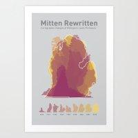 Mitten Rewritten Art Print
