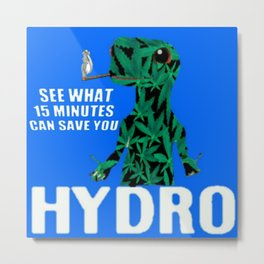 Hydro Gecko what 15 minutes can save Metal Print