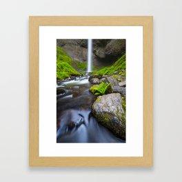Latourell Falls. Framed Art Print