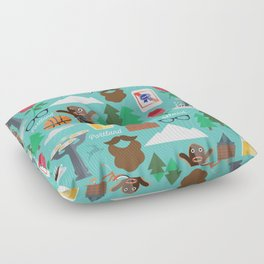 PDX patten Floor Pillow