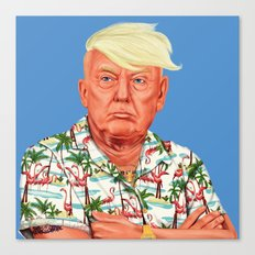 Hipstory -  Donald Trump Canvas Print