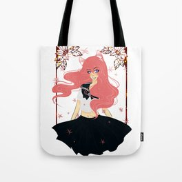 Kawaii Neko Anime Girl Tote Bag