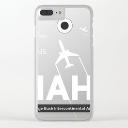 IAH HOUSTON TEXAS AIRPORT CODE Clear iPhone Case