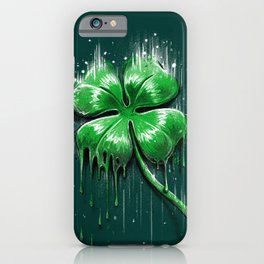 Four Leaf Clover Melting Luck iPhone Case