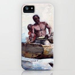 Shark Fishing,1885 - Digital Remastered Edition iPhone Case