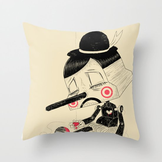 Unplug Throw Pillow