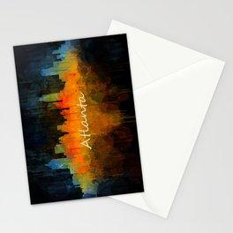 Atlanta City Skyline UHq v4 Stationery Cards
