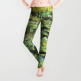 water flowers Leggings