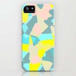 geometric mix/ bright iPhone Case