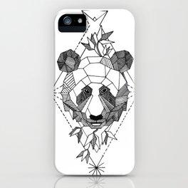 Geometrical Panda with Morse Code iPhone Case
