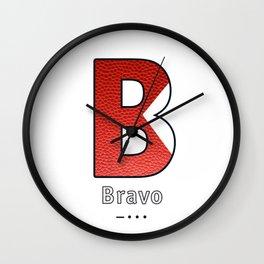 Bravo - Navy Code Wall Clock