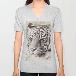 A Sketchy Tiger Unisex V-Neck