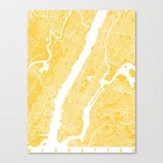 Manhattan map yellow Canvas Print
