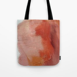 Desert Journey [1]: a textured, abstract piece in pinks, reds, and white by Alyssa Hamilton Art Tote Bag