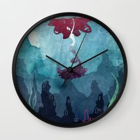 mermaid Wall Clocks featuring Mermaid by Serena Rocca