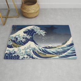 Great Wave: Kanagawa Night Rug