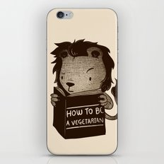 Lion Book How To Be Vegetarian iPhone & iPod Skin