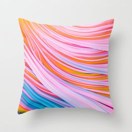 Strain Wave. Abstract Throw Pillow