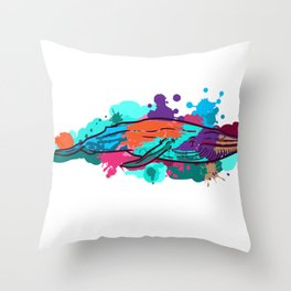 Painter artist gift color draftsman easel Throw Pillow