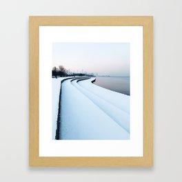 Chicago Winter Lakefront Framed Art Print