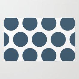 Dusky Blue Large Polka Dots Rug
