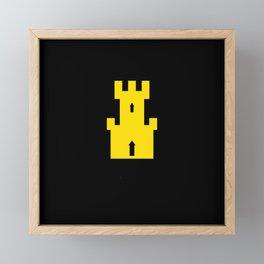 flag of finnmark Framed Mini Art Print
