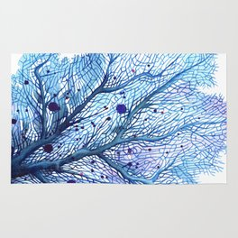 Fan Coral - Blue Rug