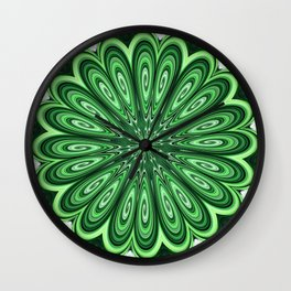 Mystery Green Puzzle Wall Clock