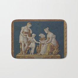 La Constance Vintage Roman Wallpaper Fire Board Bath Mat