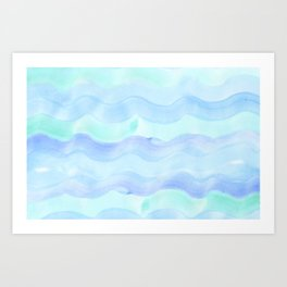water color waves Art Print