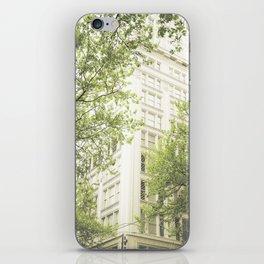 green in the grey iPhone Skin
