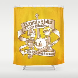 Penny & Yollo - Party Entertainers Shower Curtain