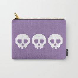 Pixel Skulls - Purple Carry-All Pouch