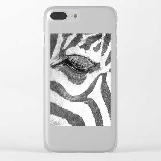 eyes Zebra Clear iPhone Case