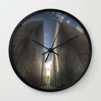 jewish Wall Clocks featuring Jewish memorial wide by Cozmic Photos