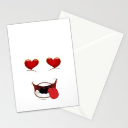 Male Lustful Heart Eyes Stationery Cards