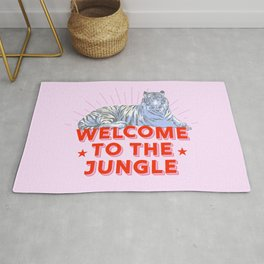 welcome to the jungle - retro tiger Rug